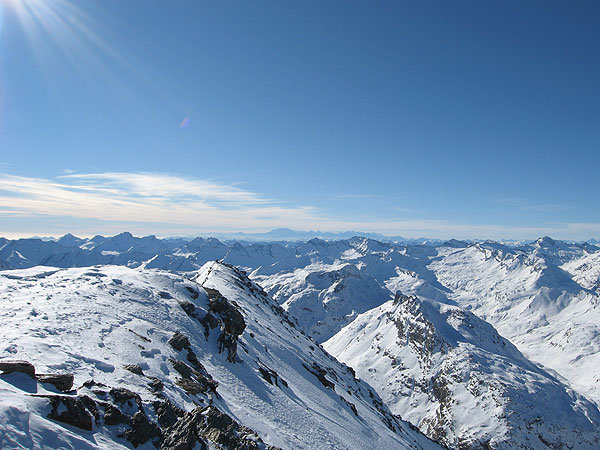 Gipfelblick gen Monterosa - © Marion Neumann