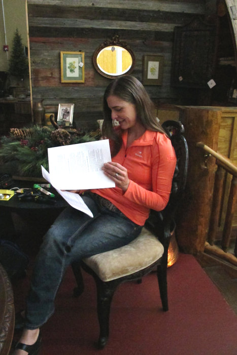 On-camera talent on-task studying that script.  - © Heather B. Fried