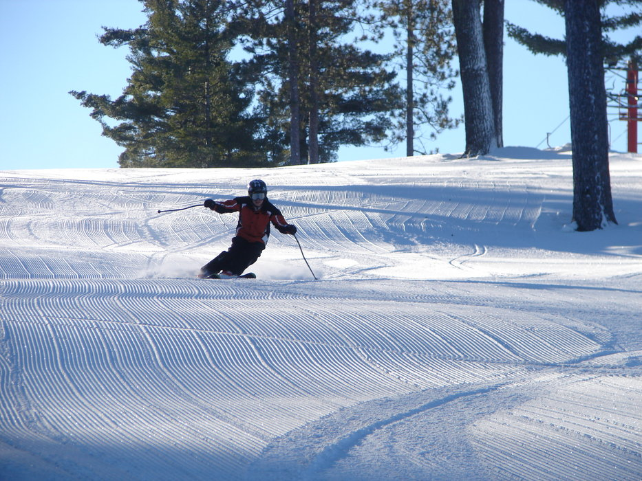Groomed slopes of Pine Mountain, MI