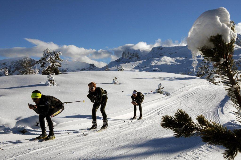 Ski de fond sur le domaine nordique du Devoluy - © Rene Sarrazin