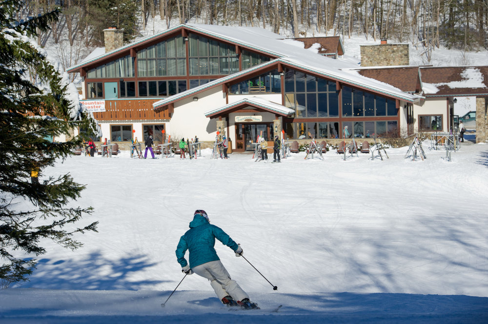 Heading to Tannenbaum Lodge, one of Holiday Valley's three base lodges - © Jane Eshbaugh, Director of Marketing Holiday Valley Resort
