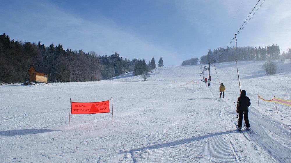 Ski sur les pistes du Champ du Feu