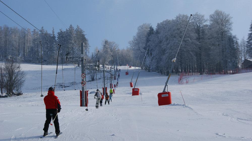 Le téléski du Slalom sur le domaine skiable du Champ du Feu
