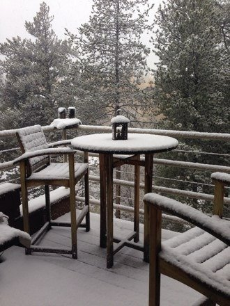 It's been snowing like crazy up here this morning! Keep it coming!!!