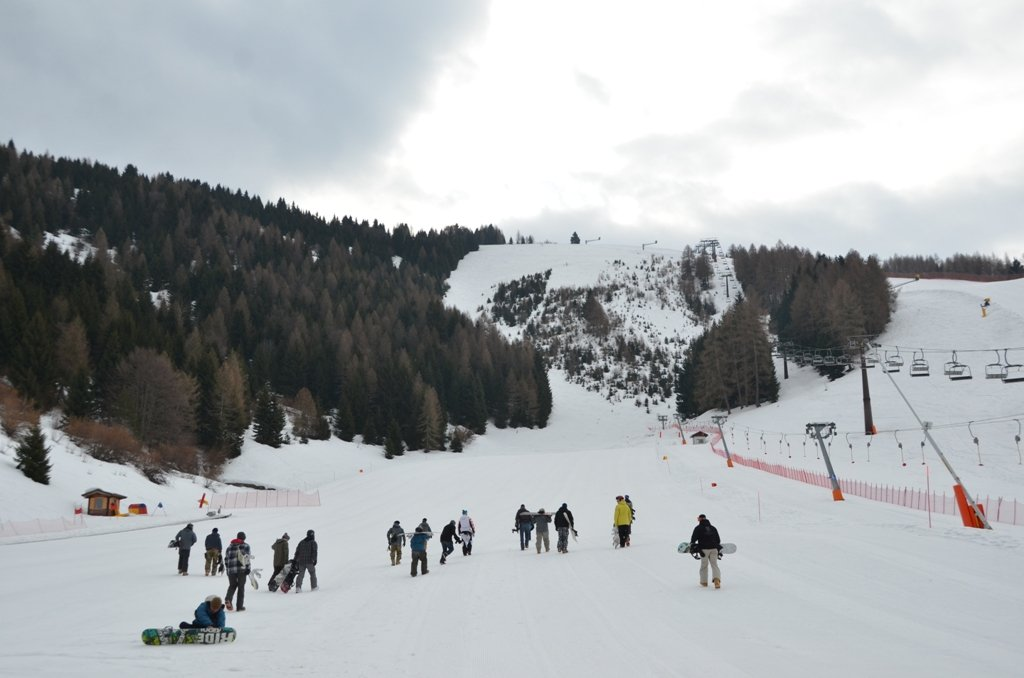 On the ski slopes of Folgaria, Italy - © Joyce Costello