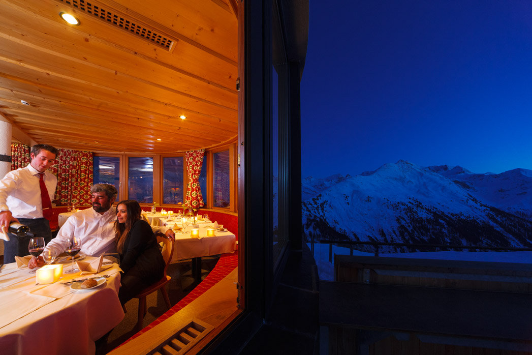 - ©A romantic evening with candlelight in one of Europes highest located gourmet restaurants.