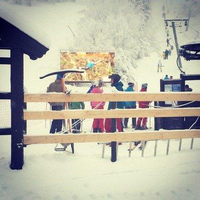 """Tåke våt kunst snø, """"hotellbakken only"""""""