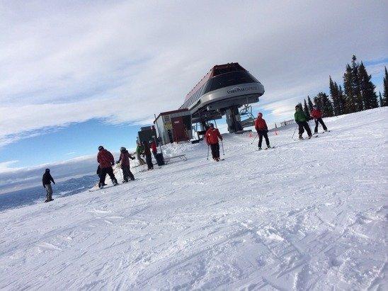 Mid-day at the summit of Storm Peak on Sunday.