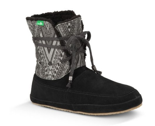 Sanuk Women's Soulshine Chill: $80 There's no reason car trips to and from the slopes shouldn't be completely cozy. And you'll be even more comfortable in stylish, slip-free footwear with this soft suede slip-on bootie from Sanuk.