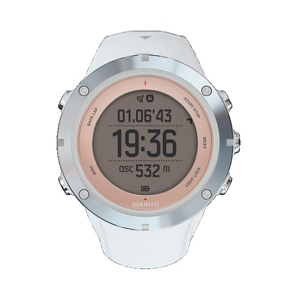 Suunto Ambit3 Sport Sapphire: $500 The Sport Sapphire is a variant of this GPS watch designed specifically for women. It's made to fit on smaller wrists and is highlighted with 18K rose gold, but is still fully-featured with multi-sport functionality. (There are also other styles available through Suunto.)