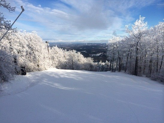 Great morning here at Wachusett plenty of coverage great job snow makers !!!!