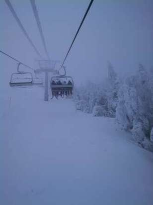 low visibility up top but great snow everywhere once you can see!