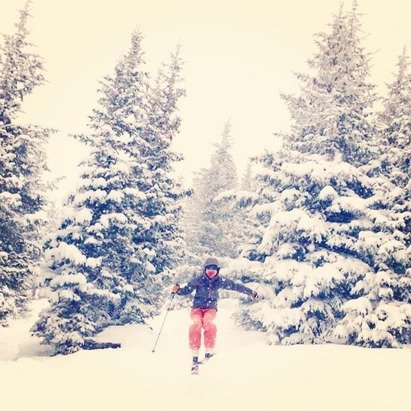 Powder day in Vail, USA - © Ashley e's iPhone
