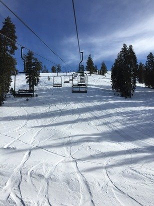 Perfect day at Donner Ski Ranch - fresh tracks, no lines and good conditions!