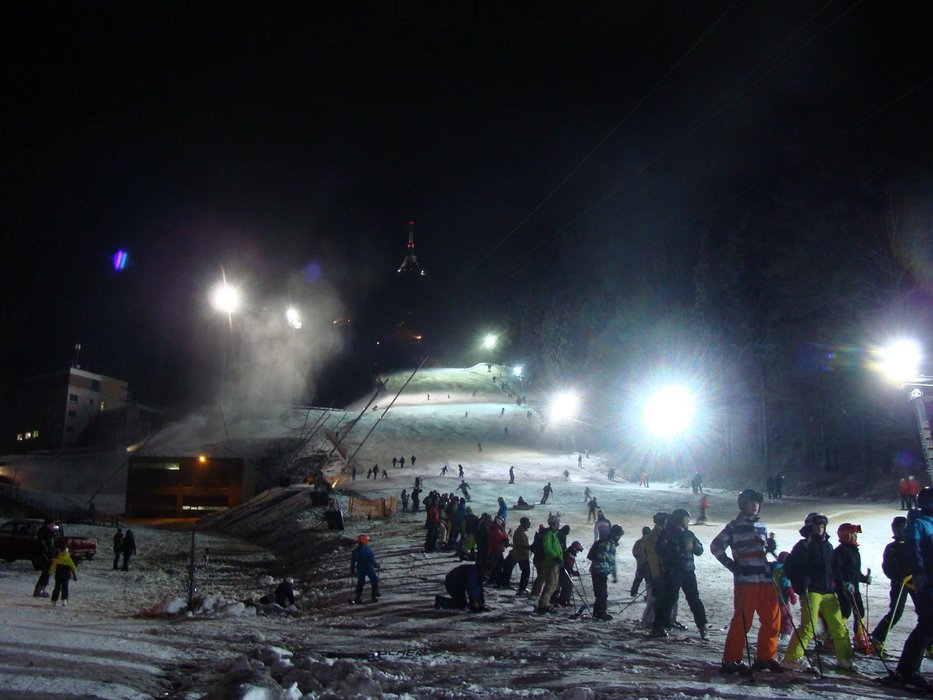 Ještěd, CZ - First night skiing in this season