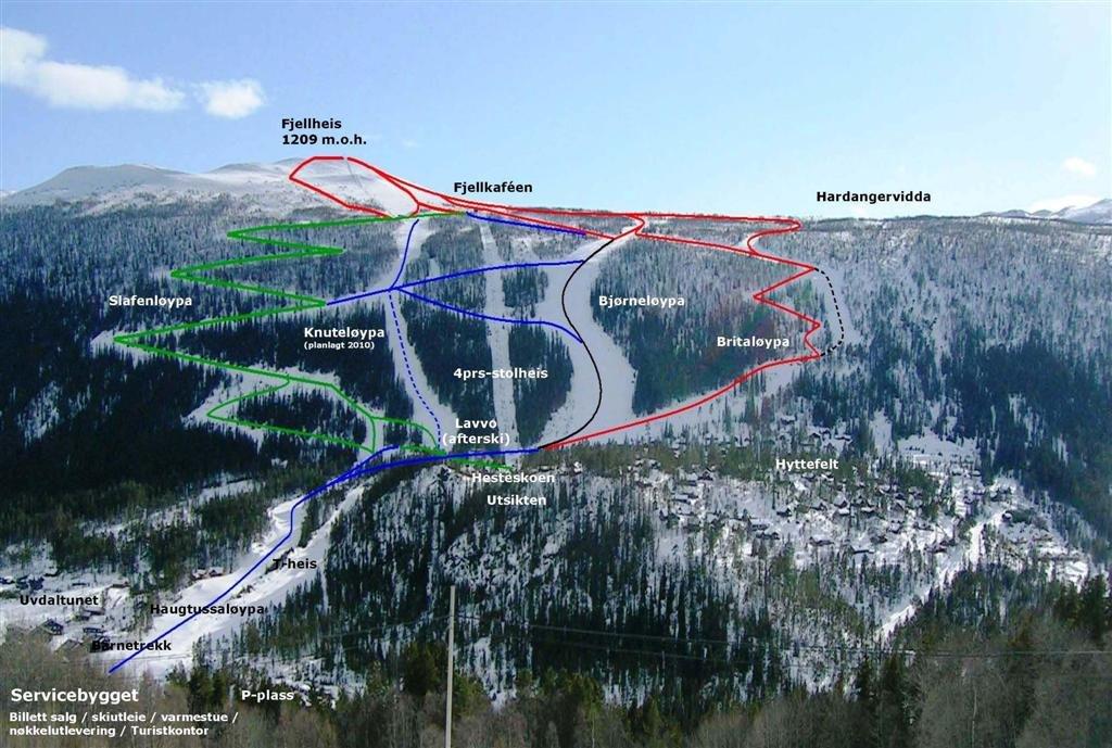 Uvdal Alpin skikart | Uvdal Alpin - © help2cad.dk | help2cad.dk @ Skiinfo Lounge