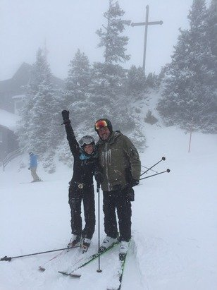 Low visibility all day.. But should be an incredible day tomorrow with some fresh POW