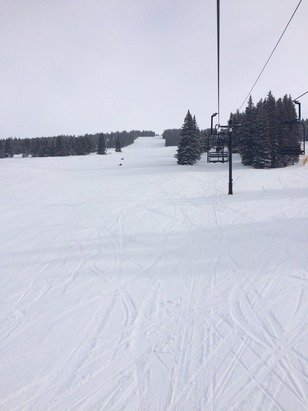 Great conditions plenty of untracked powder, was a little cold today though -6! Still a great day!