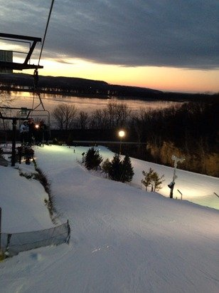 Went skiing yesterday for the afternoon and then once it got dark. Recommend night skiing!!