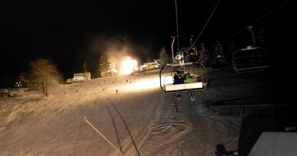 Night skiing at Big Raca - Snow Paradise Veľká Rača Oščadnica - © facebook.com/velkaraca