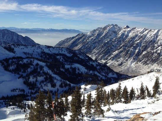 Alta weather has been warm this week but the skiing is great. Love Utah.