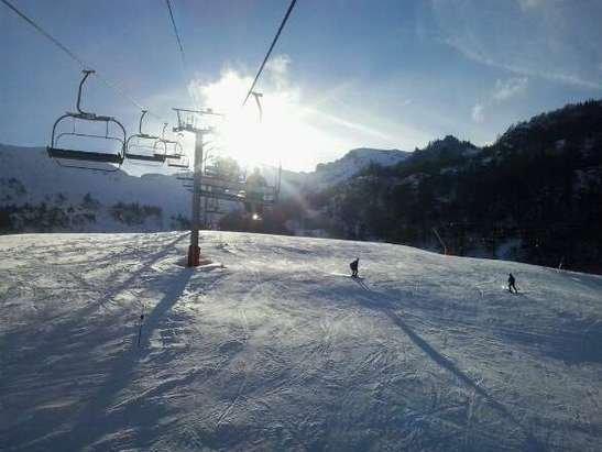 toujours du soleil avec de la bonne neige
