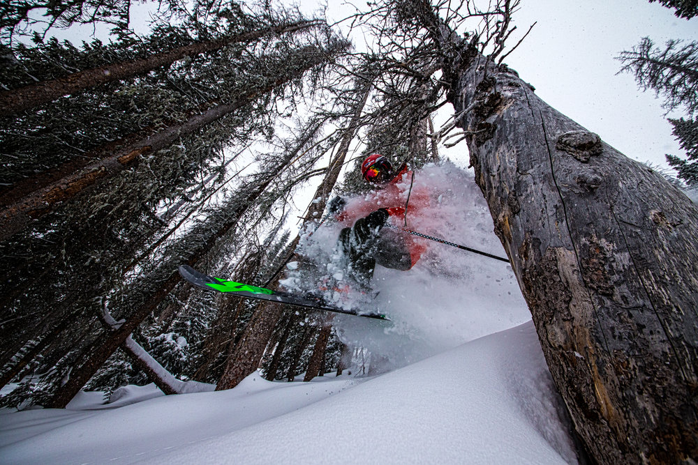 Grady James airs the Wolf Creek glades. - © Liam Doran