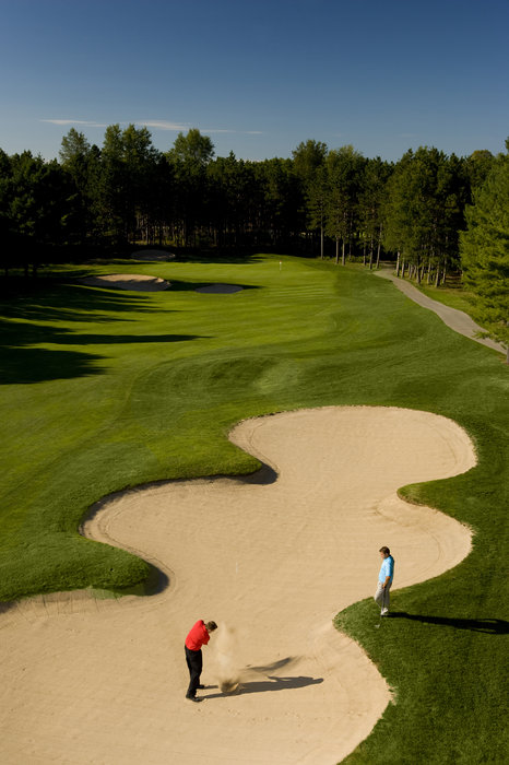 Golfers at Crystal Mountain, MI.