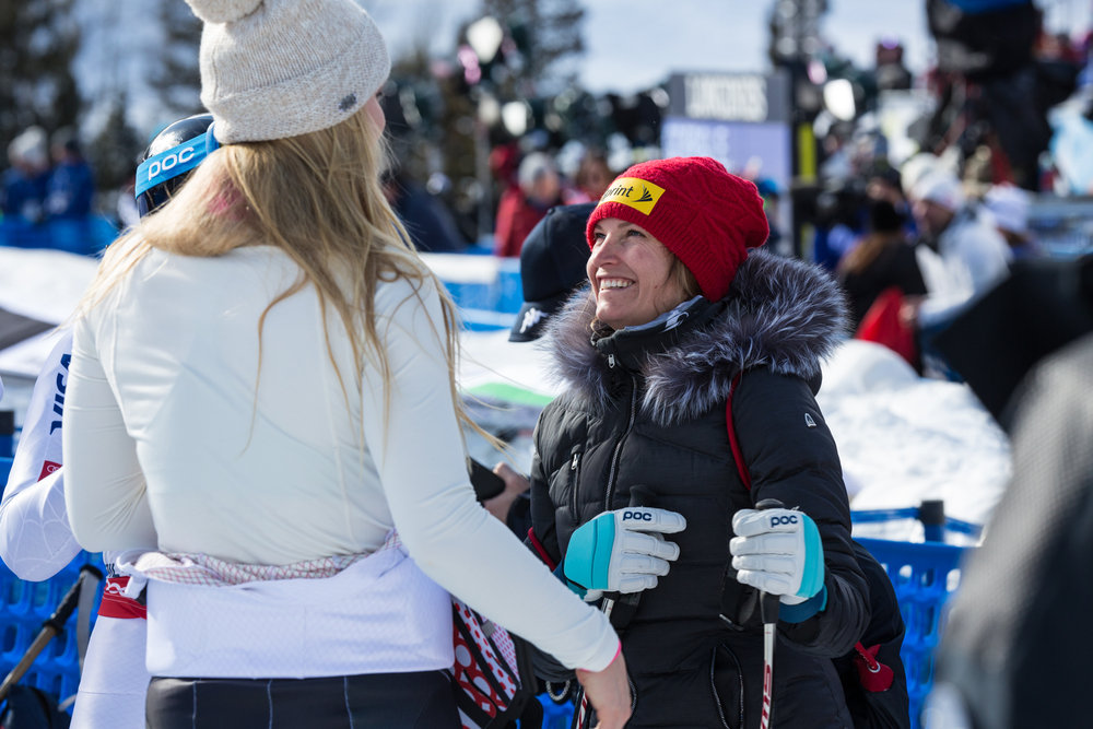 LIndsay and Julia talk about the course. - ©  Liam Doran
