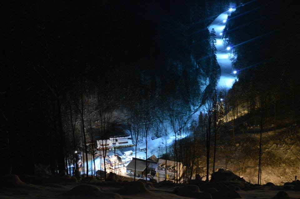 NIght ski in Snow Paradise Big Rača - ©Facebook Snow Paradise
