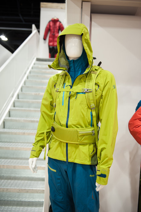Bergans Storen Jacket and Pants, complemented by the Istinden 26 L ski pack. - ©Ashleigh Miller Photography