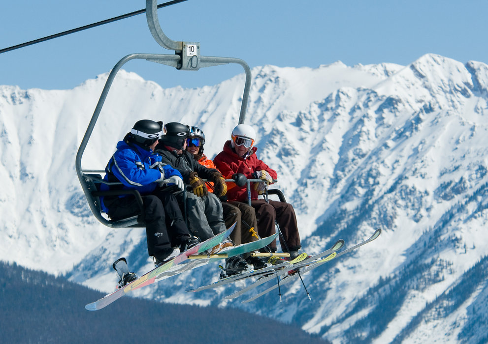For on-mountain spectating, hit the lift and ski to one of many viewing areas. - © Vail Resorts / Dan Davis