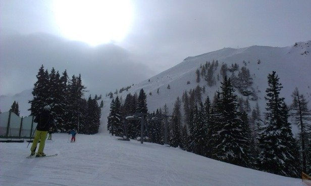Perfect groomed snow!