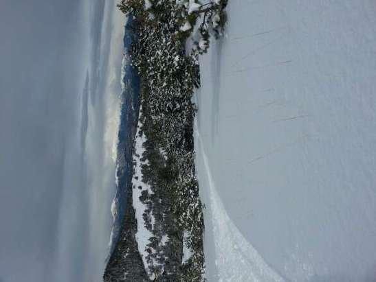 hors piste commence à être pas mal. manque encore de la neige malheureusement. neige sur les pistes très très correctes, cependant vent au sommet donc peu de neige et dure.En résumé, journée d'hier très agréable car il  y avait personne.