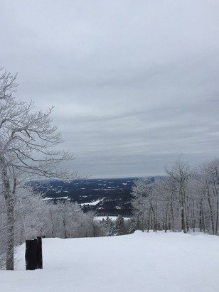 Awesome condition! Powder anywhere! Wonderful day at Wachusett