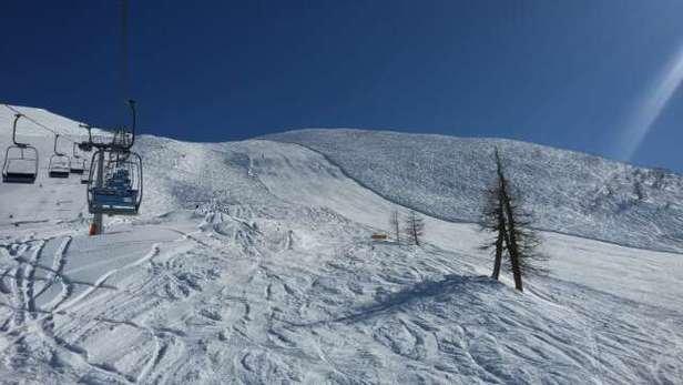giornata strepitosa, temperature ottime e neve da urlo! per l'intera giornata la neve è stata perfetta!