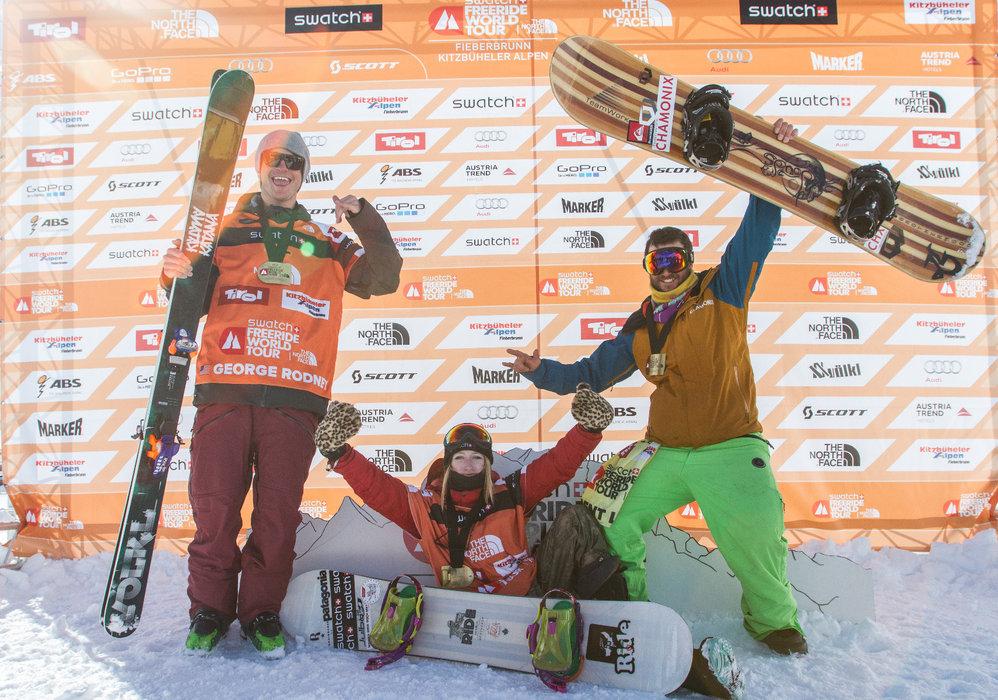 Die Sieger beim Ersatzevent für die FWT Kitzbüheler Alpen Fieberbrun - © Freeride World Tour | D. Daher