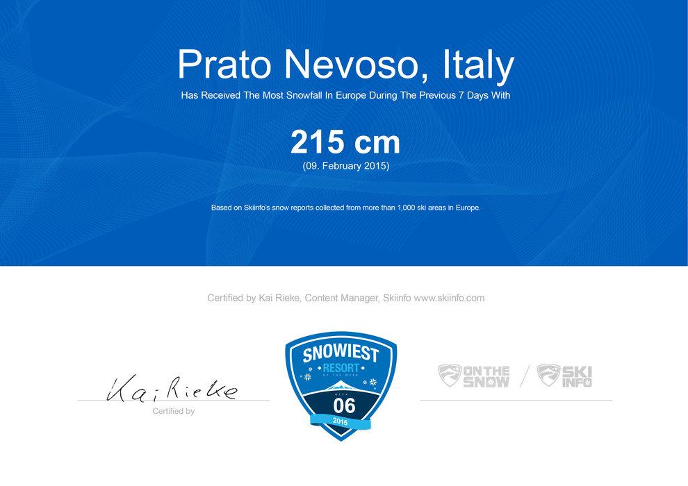 Prato Nevoso wint week 6. - © Skiinfo.de