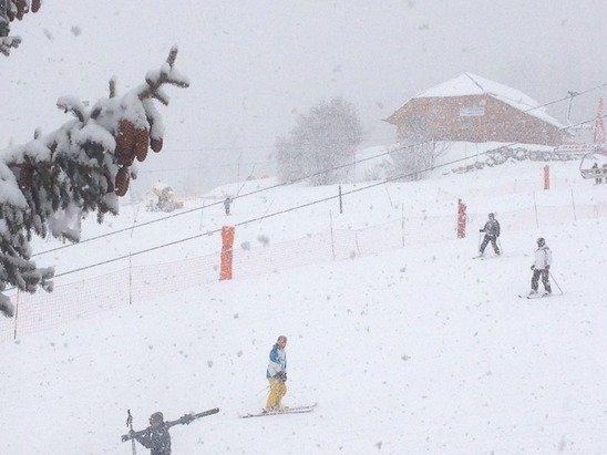 Nouvelle averse de neige.