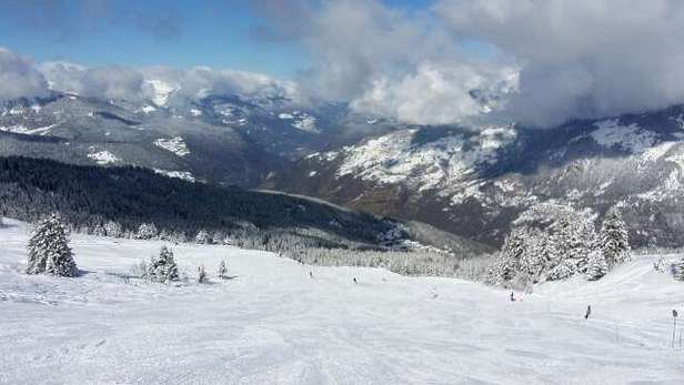On piste skiing does not get better than this! Totally awesome! Can't wait to get out there today.