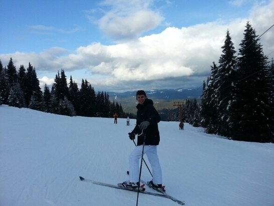 Pamporovo - My first attempts -> my first black piste :-) - © lachogbg