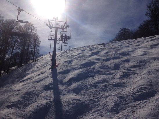 La Bresse Hohneck - Domaine encore largement skiable Journée très agréable  - © iPhone de BOB