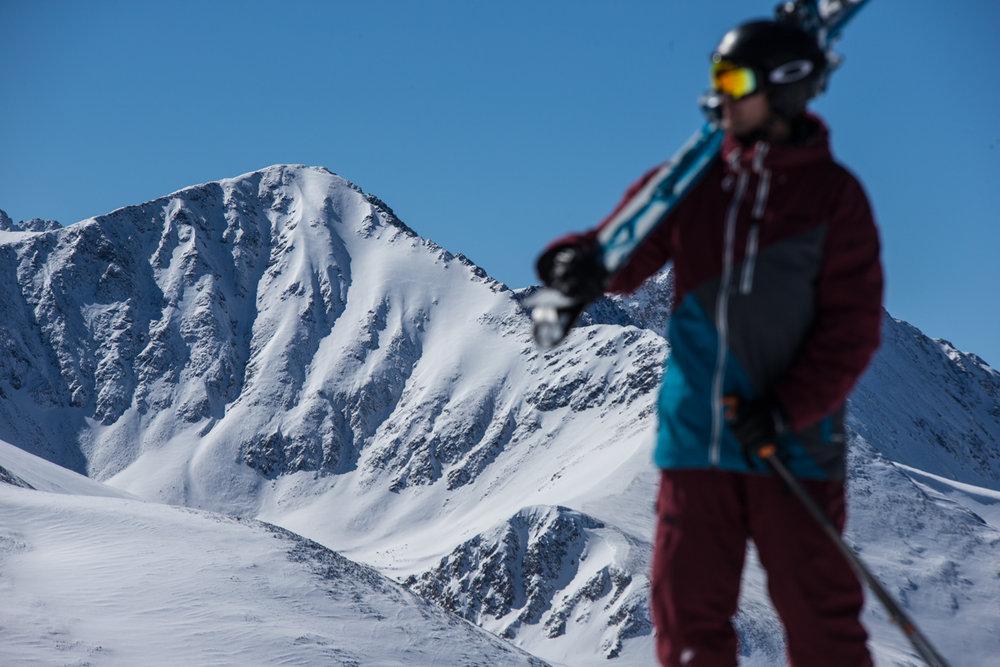 Picture perfect day atop Peak 6, Breck. - © Liam Doran