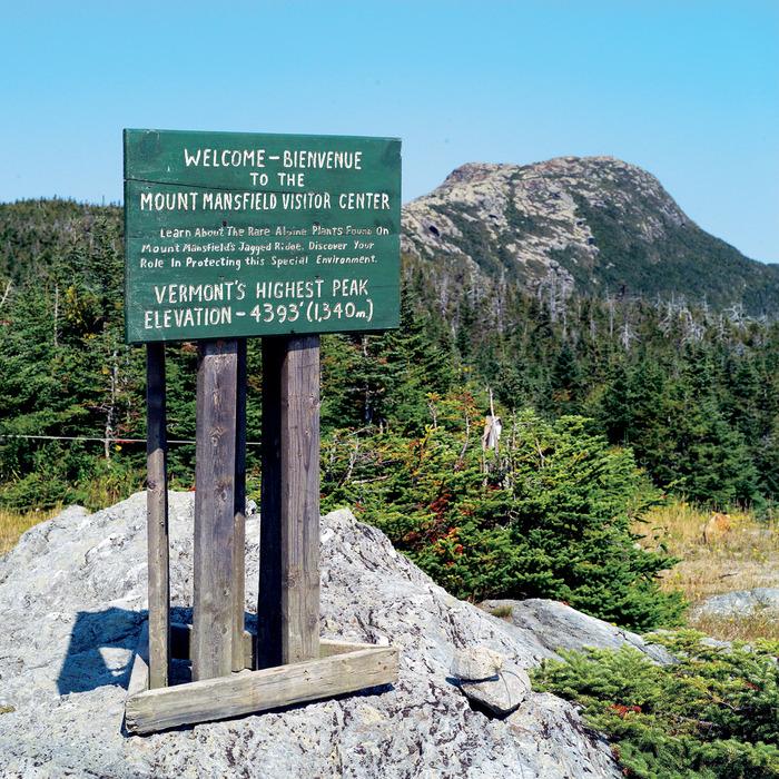 Mt Mansfield near Stowe Mountain Resort, Vermont.