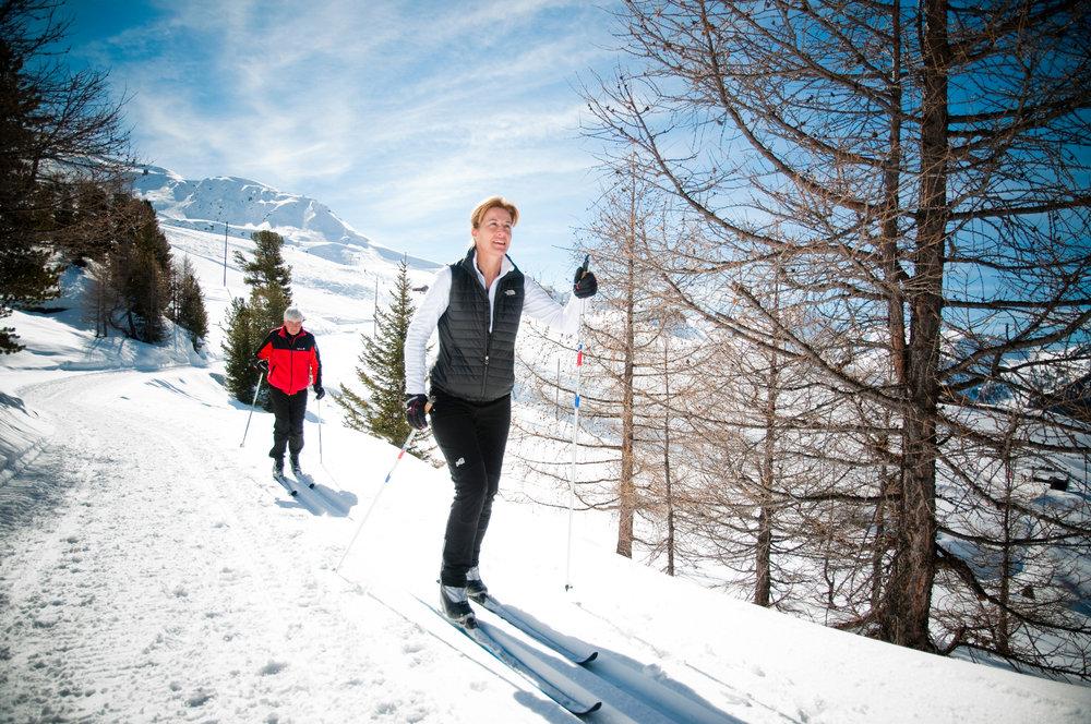 Ski de fond en pleine nature à proximité de Veysonnaz - © lafouinographe.com
