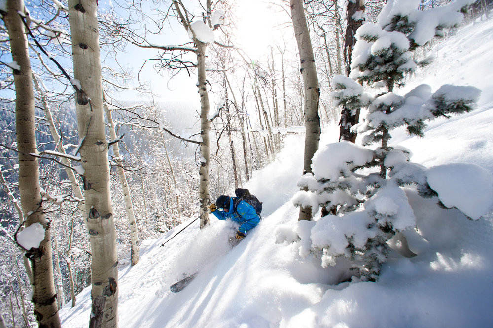 It doesn't get better than in the tress on a Beaver Creek powder day. - ©Jack Affleck