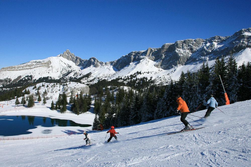 Sur les pistes de ski de Villard de Lans - © Office de Tourisme de Villard de Lans