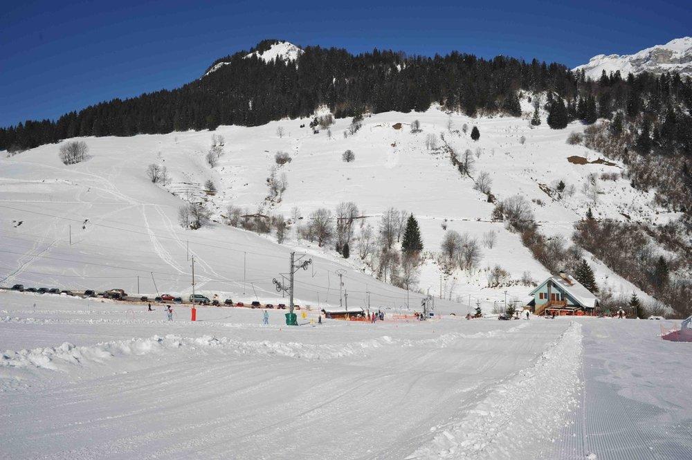 Le front de neige de Montmin-Col de la Forclaz - © Station de Montmin-Col de la Forclaz