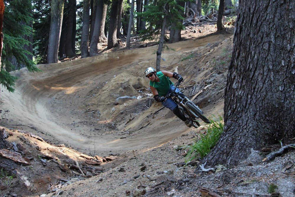 New mountain bike flow trails at Mt. Bachelor yield banked turns and rollers. - ©Mt. Bachelor Resort