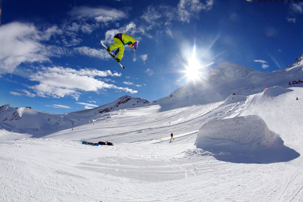 Letní Freestylepark v Saas-Fee - © Saastal Marketing AG